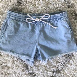AEO Fringe Shorts